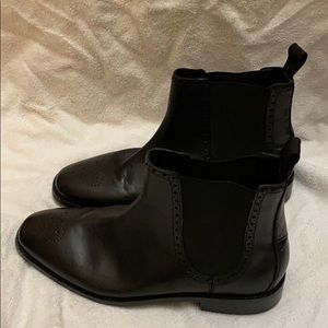 Black Leather Coal Haan Boots